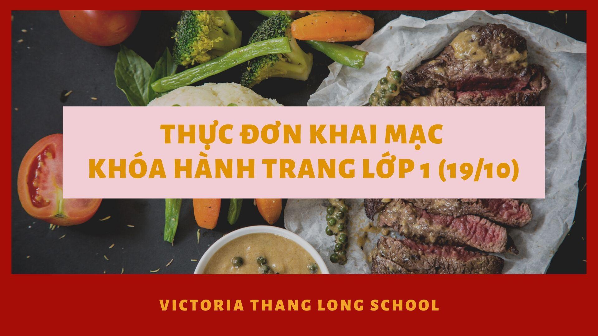 Thực đơn hành trang lớp 1 tại Vicschool